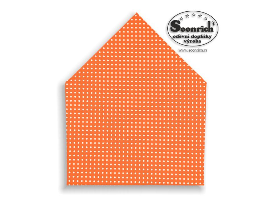 Soonrich, šátek dětský puntík na oranžové, bsd008