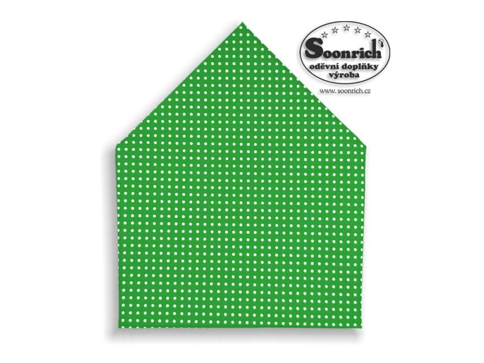 Soonrich, šátek dětský puntík na zelená, bsd030