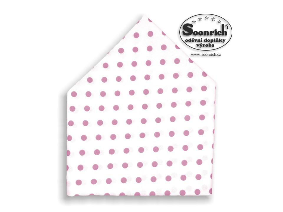 Soonrich, šátek dětský růžové puntíky, bsd048