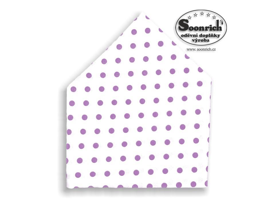 Soonrich, šátek dětský fialové puntíky, bsd056