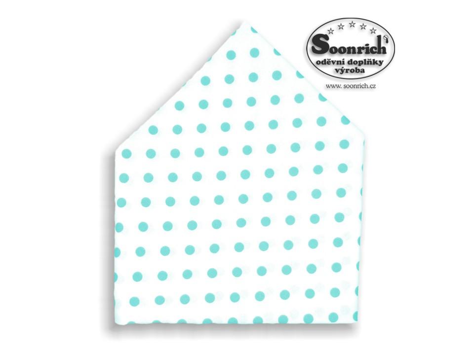 Soonrich, šátek dětský tyrkysové puntíky, bsd060