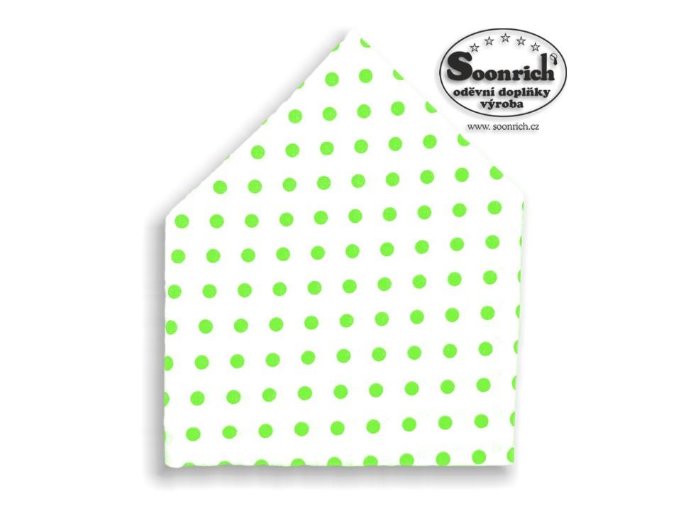 Soonrich, šátek dětský zelený puntík, bsd066
