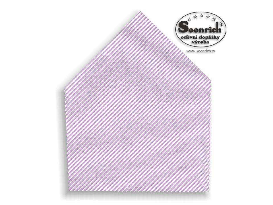 Soonrich, šátek dětský fialový pruhovaný , bsd176