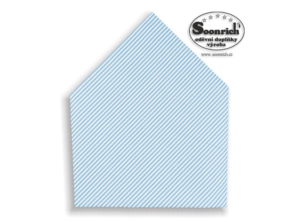 Soonrich, šátek dětský modrý pruhovaný , bsd178