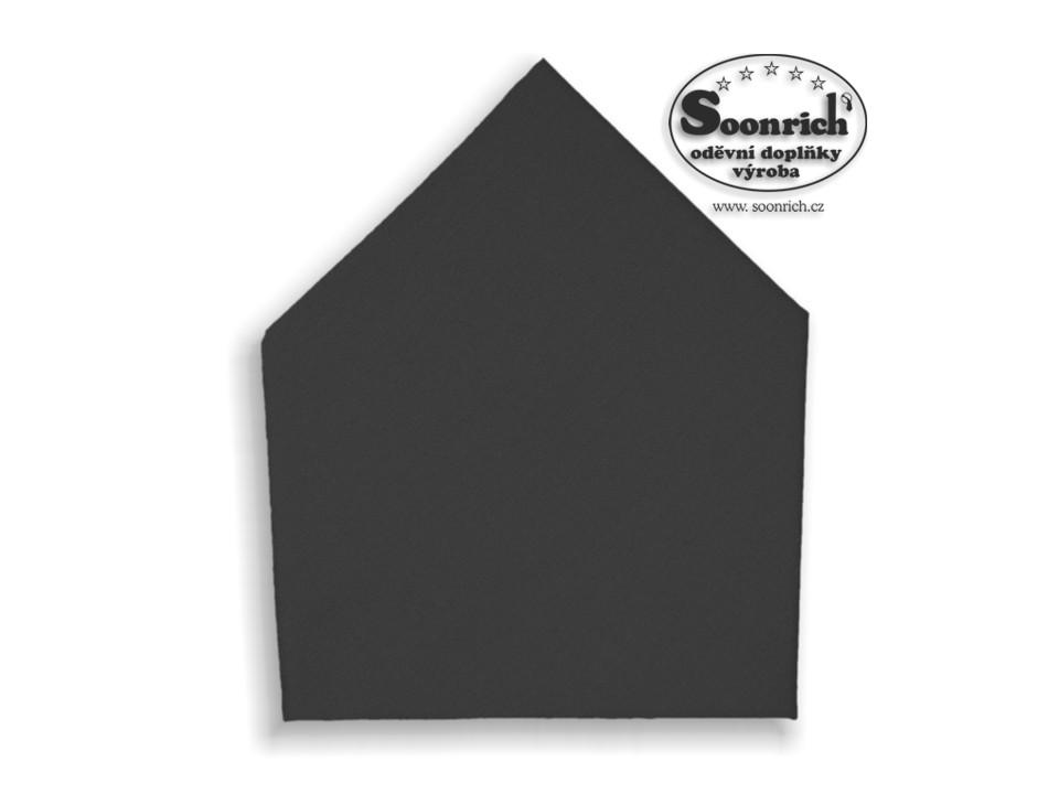 Soonrich, šátek dětský černý, bsd219