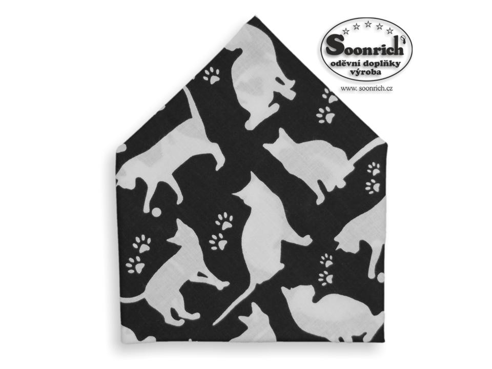 Soonrich, bavlněný šátek dětský s kočkami, bsd279