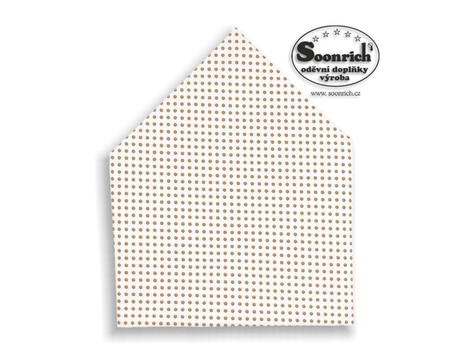Soonrich, šátek hnědý puntík, bsp001