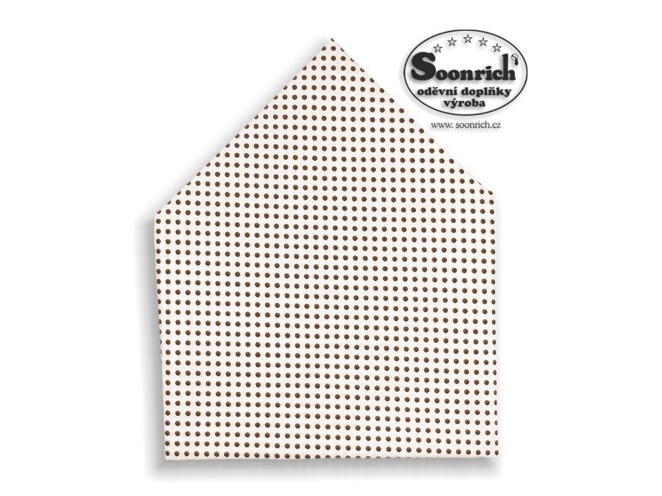 Soonrich, šátek hnědý puntík, bsp003