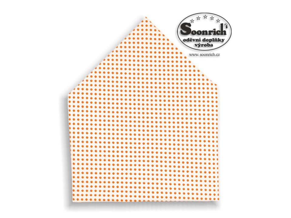 Soonrich, šátek oranžový puntík, bsp007