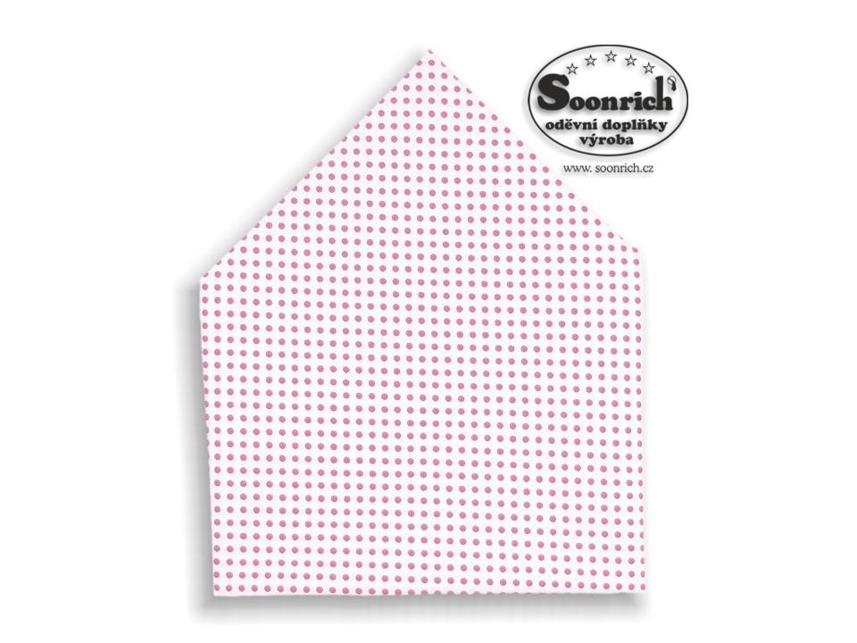 Soonrich, šátek růžový puntík, bsp009