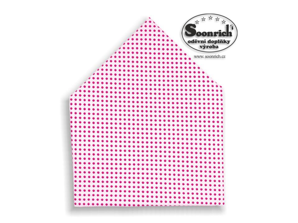 Soonrich, šátek růžový puntík, bsp011