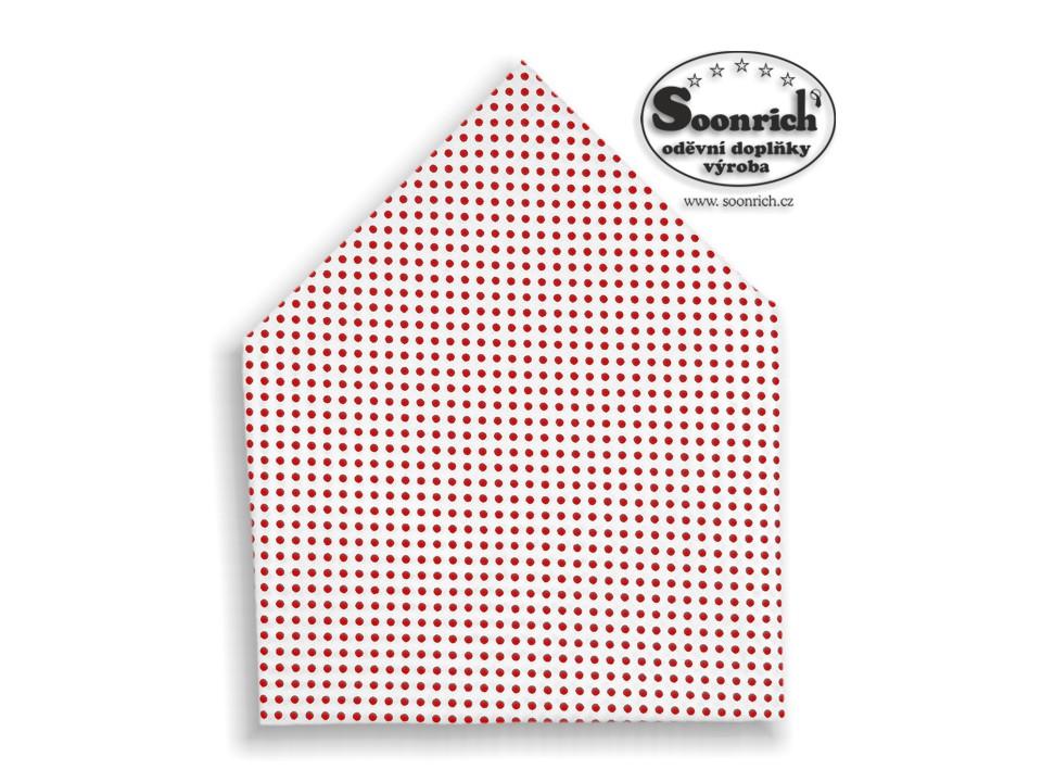 Soonrich, šátek červený puntík, bsp013