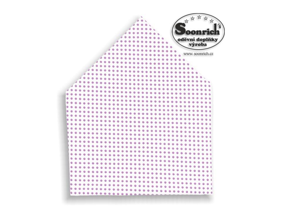 Soonrich, šátek fialový puntík, bsp017