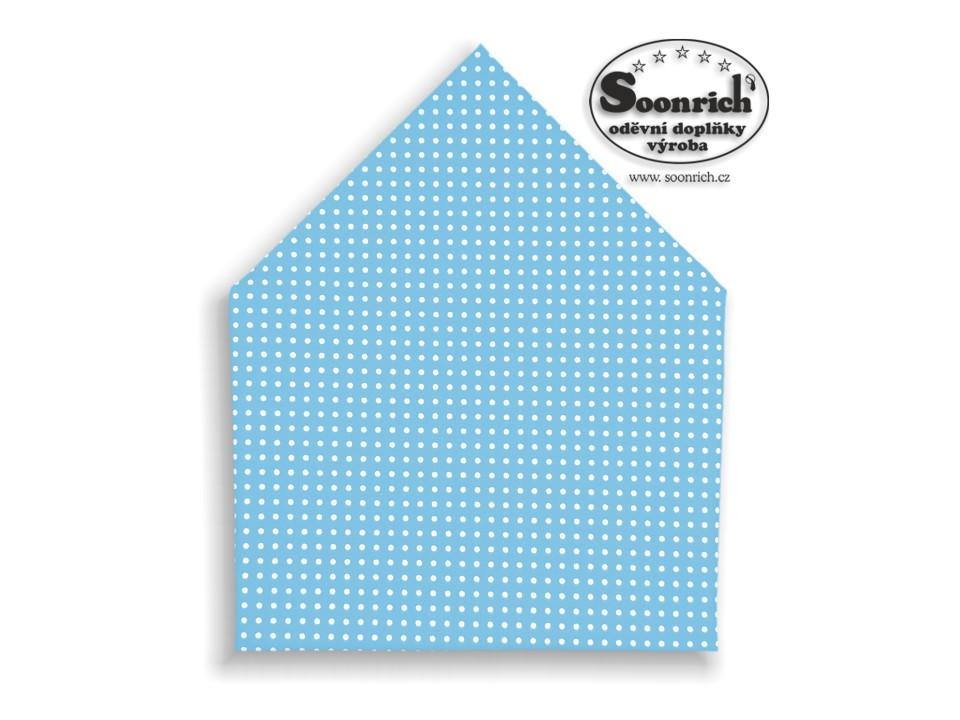 Soonrich, šátek bílý puntík na modré, bsp020