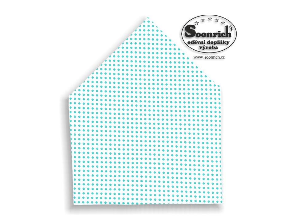 Soonrich, šátek tyrkysový puntík, bsp021