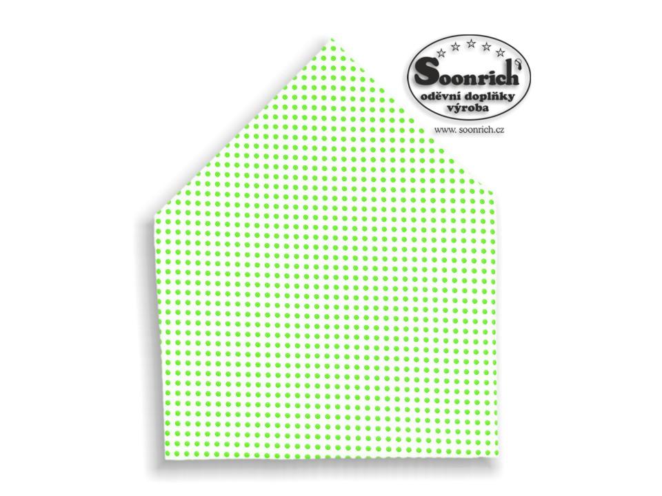 Soonrich, šátek světle zelený puntík, bsp027