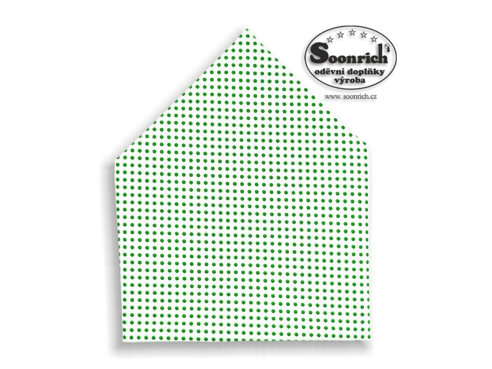 Soonrich, šátek zelený puntík, bsp029