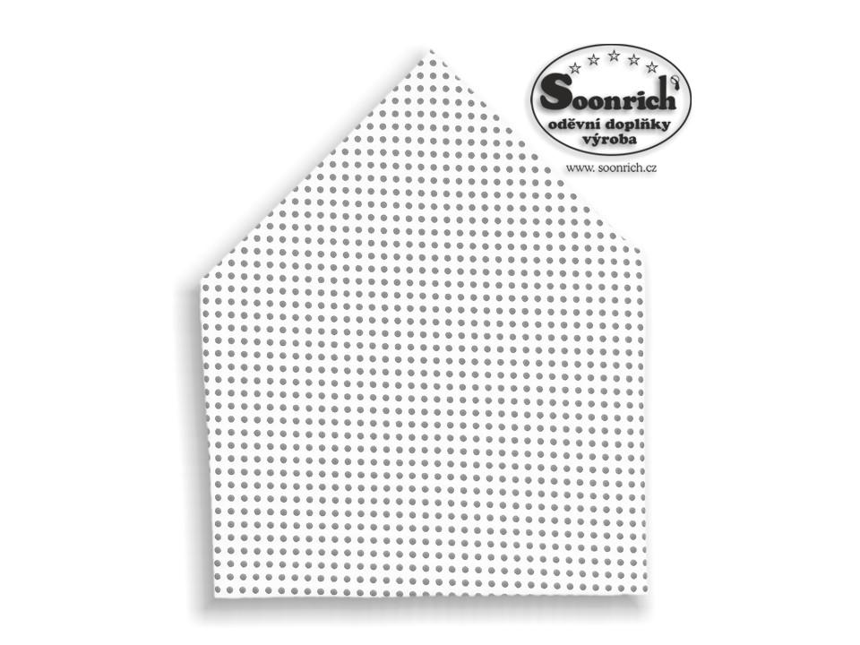 Soonrich, šátek šedý puntík, bsp031
