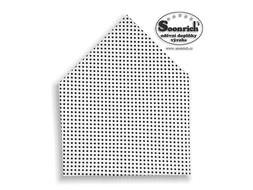 Soonrich, šátek černý puntík, bsp033