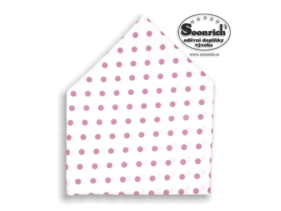 Soonrich, bavlněný šátek růžový puntík, bsp048