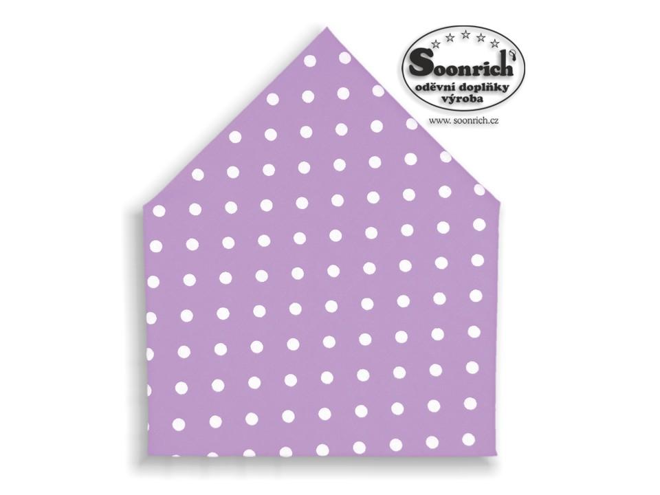 Soonrich, šátek puntíkovaný na fialové, bsp057