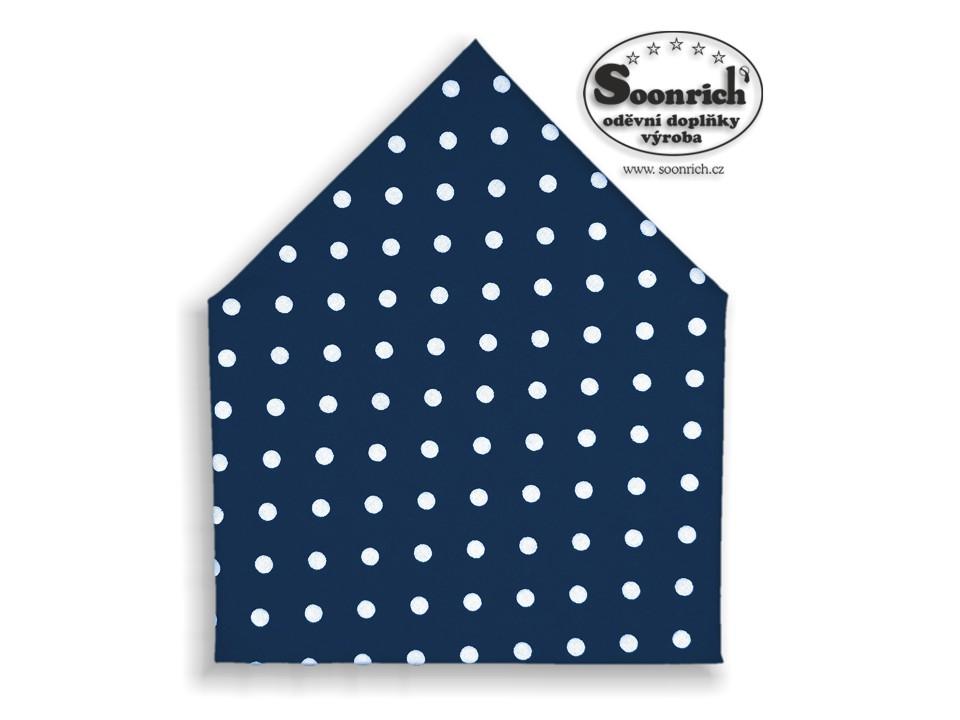 Soonrich, šátek s puntíky na modré, bsp065