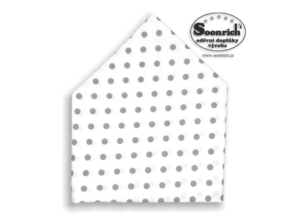 Soonrich, bavlněný šátek šedý puntík, bsp070