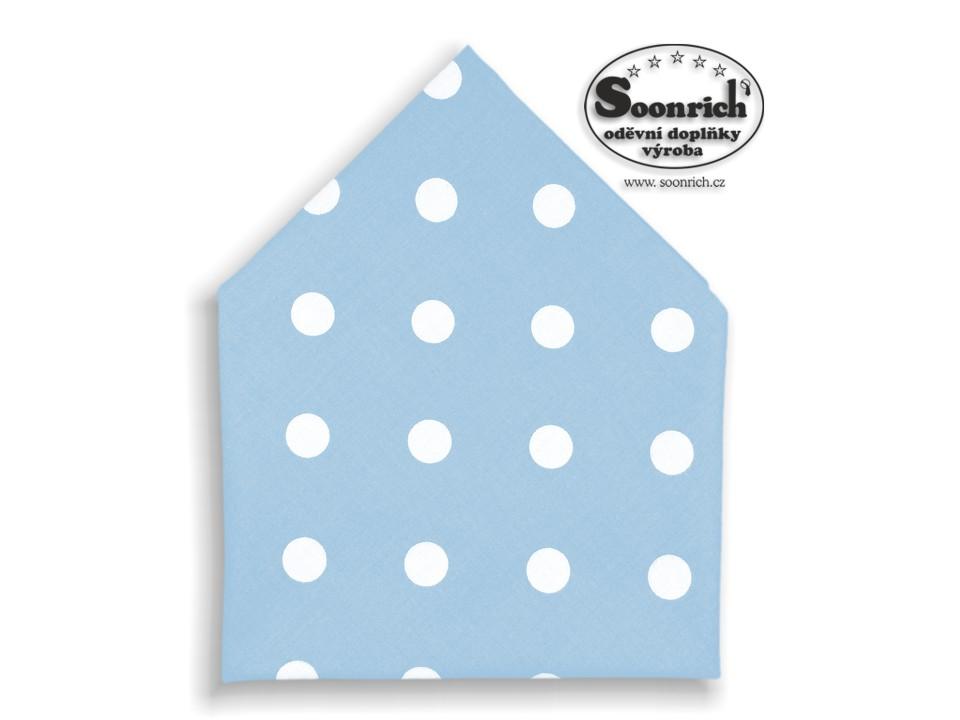 Soonrich, bavlněný šátek puntíky na modré, bsp099
