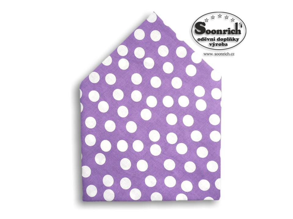 Soonrich, šátek puntíkovaný na fialové, bsp115