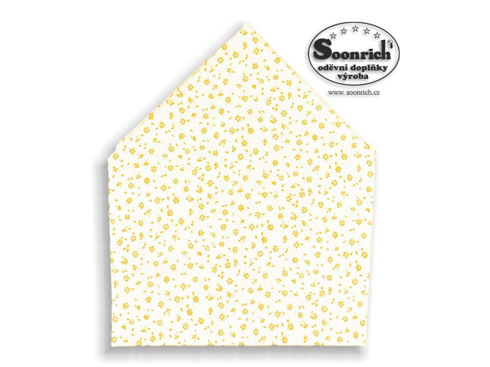 Soonrich, bavlněný šátek žlutá kytička, bsp124