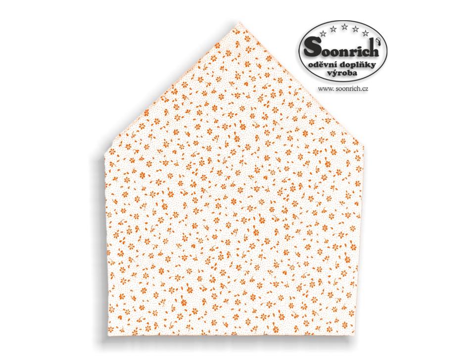 Soonrich, bavlněný šátek oranžová kytička, bsp126