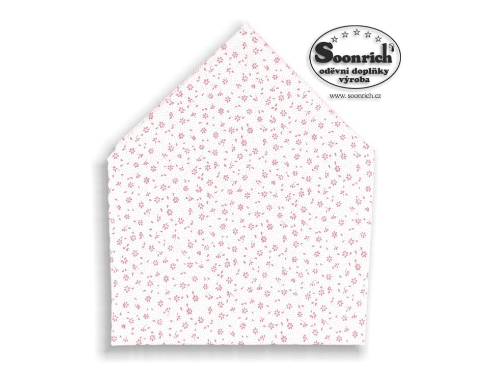 Soonrich, bavlněný šátek růžová kytička, bsp128