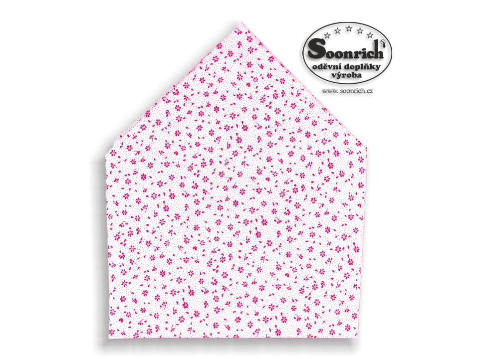 Soonrich, bavlněný šátek růžové kytky, bsp130