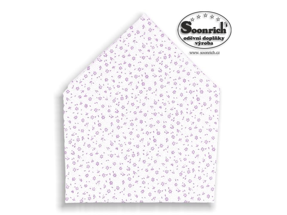 Soonrich, bavlněný šátek fialová kytka, bsp136