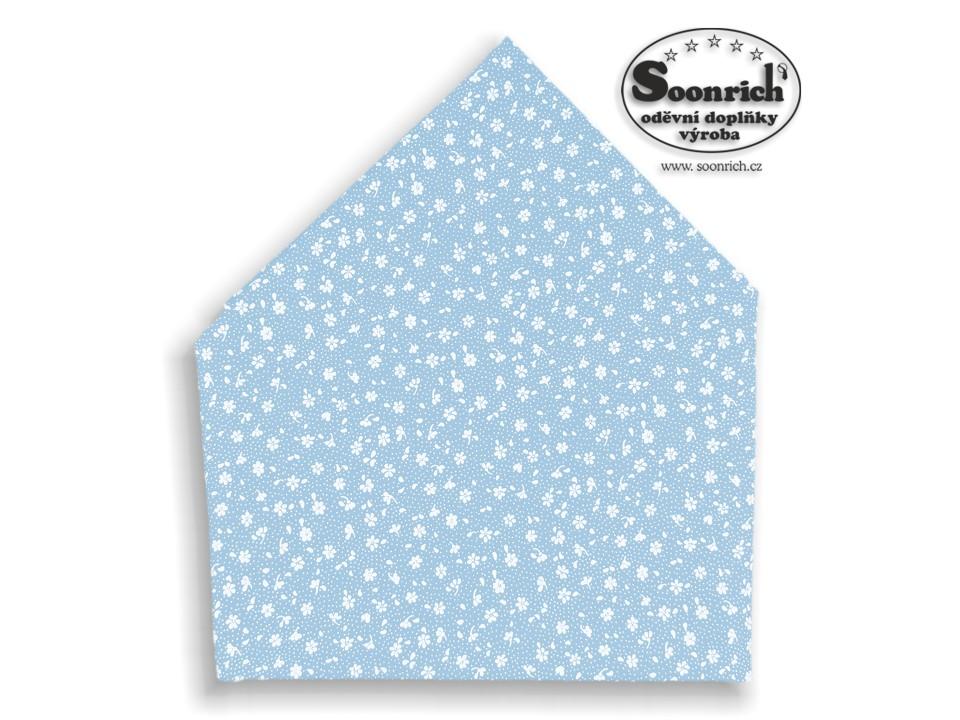 Soonrich, bavlněný šátek modrý kytičky, bsp139