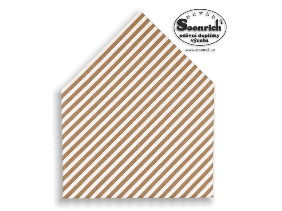 Soonrich, šátek béžové pruhy, bsp161