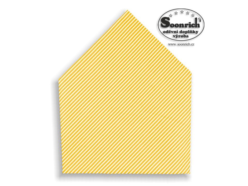 Soonrich, šátek žluté proužky , bsp164