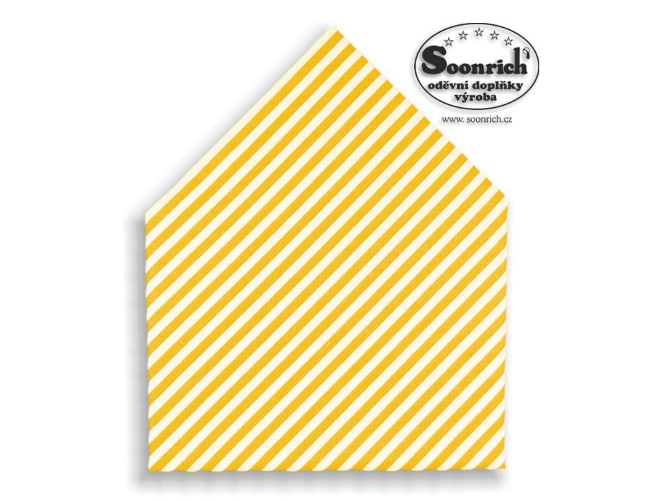 Soonrich, šátek žluté pruhy, bsp165