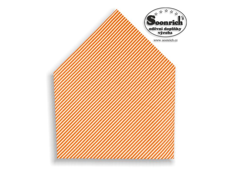 Soonrich, šátek oranžové proužky , bsp166