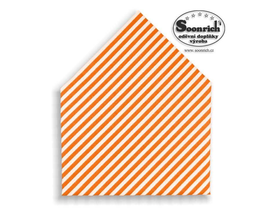 Soonrich, šátek oranžové pruhy, bsp167
