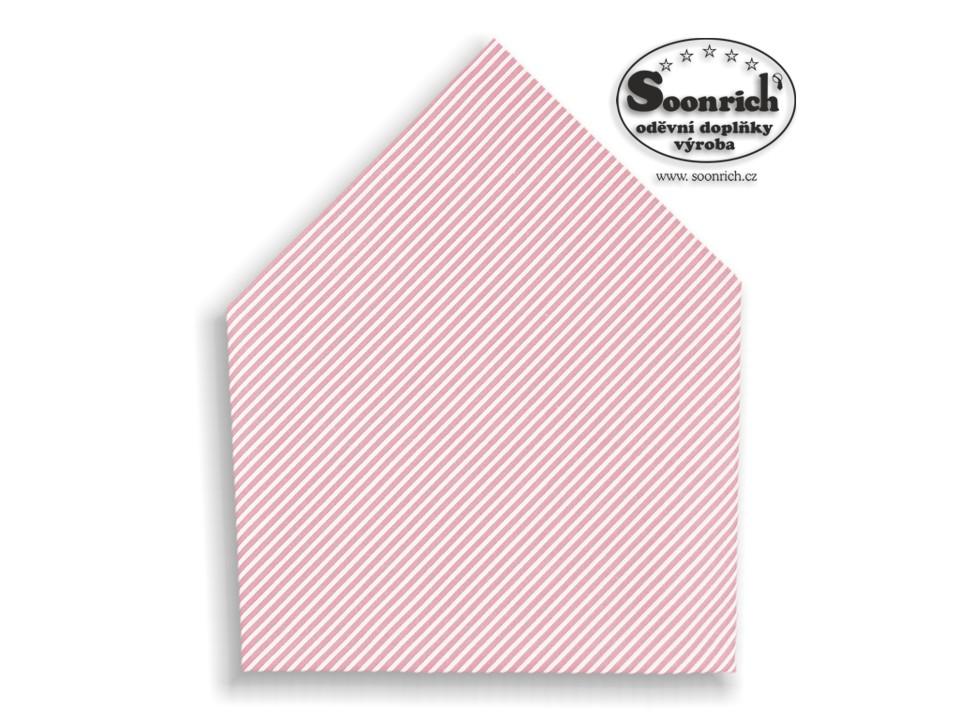 Soonrich, růžový pruhovaný šátek , bsp168
