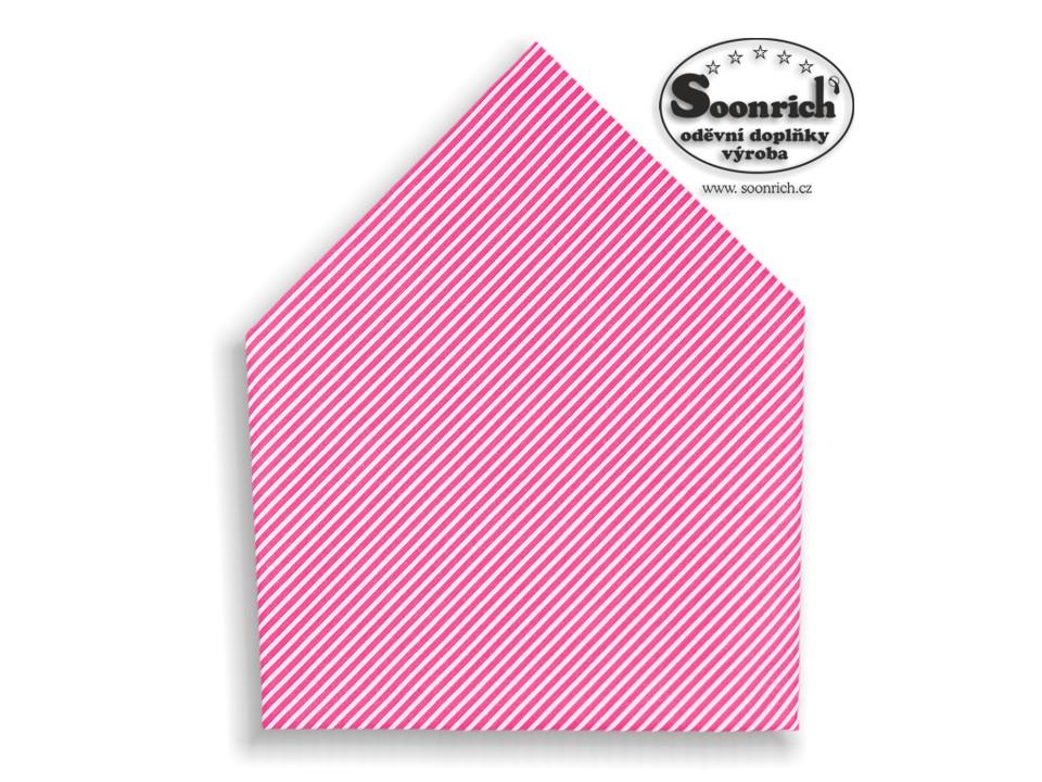 Soonrich, šátek růžové proužky , bsp170