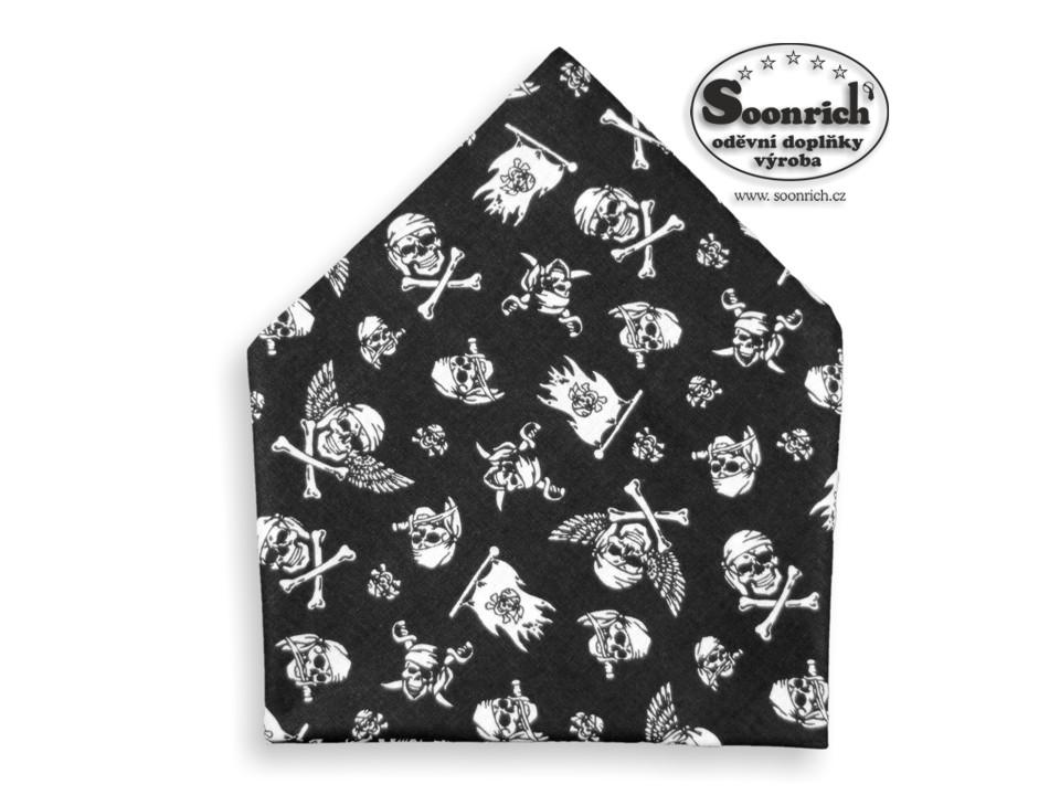 Soonrich, šátek pirátské lebky, bsp232