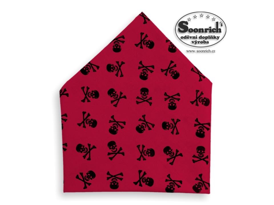 Soonrich, šátek černá lebka, bsp238
