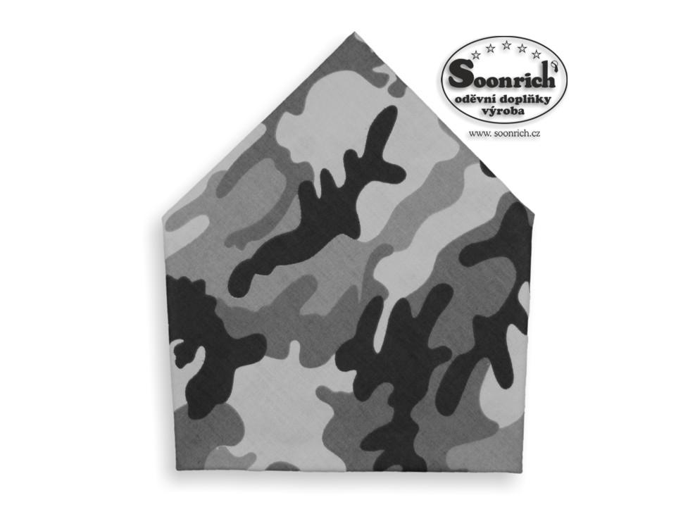 Soonrich, šátek maskáč šedý, bsp261
