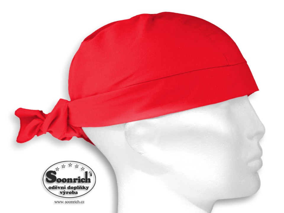 Soonrich, šátek pirát červený, bsv207
