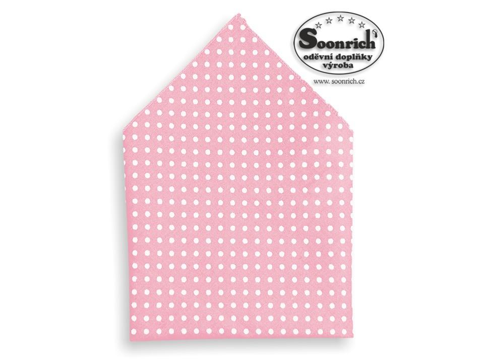 Soonrich, kapesníček puntík růžový, kaba010