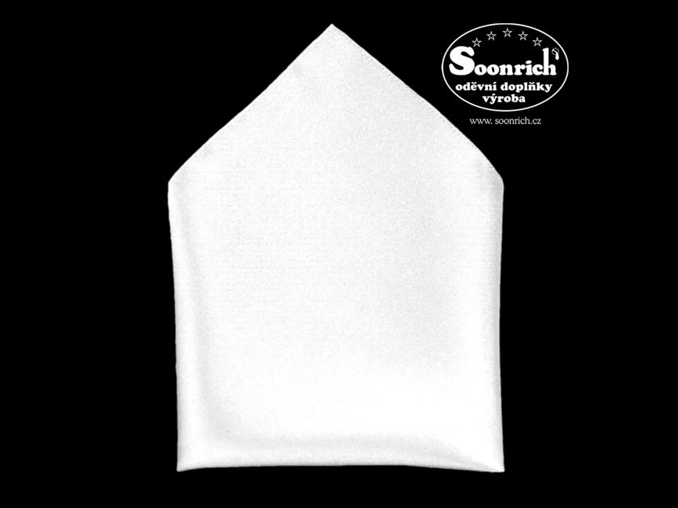 Soonrich, kapesník bílý společenský , kab001