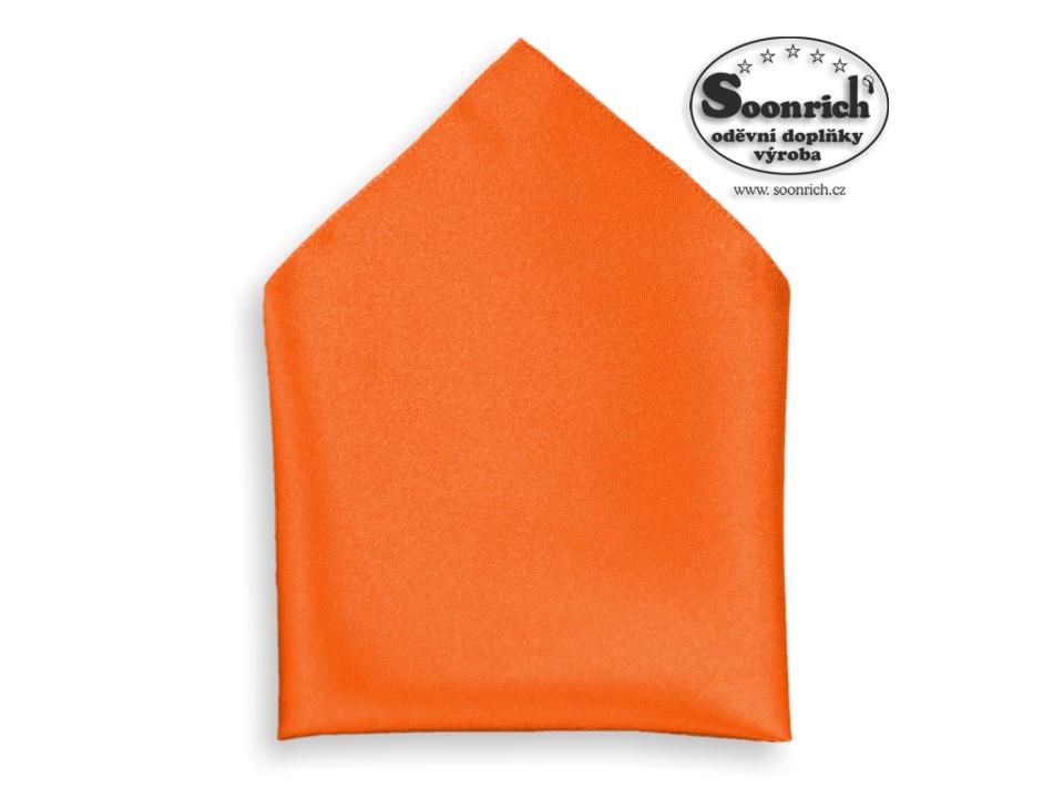 Soonrich, kapesník oranžový společenský , kab006