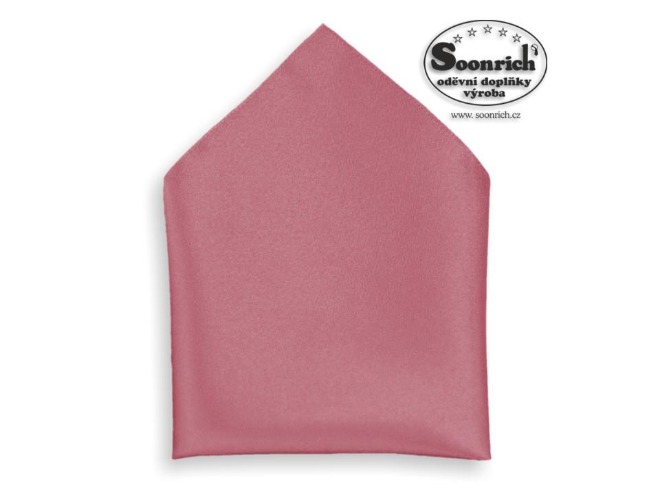 Soonrich, kapesník růžový společenský , kab008